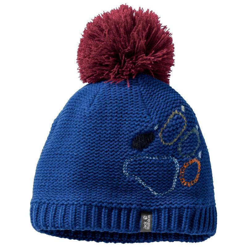 Купить Шапки и повязки, Шапка paw knit cap kids (1906591-1099), Jack Wolfskin, Синий, Осень-Зима 2018-2019