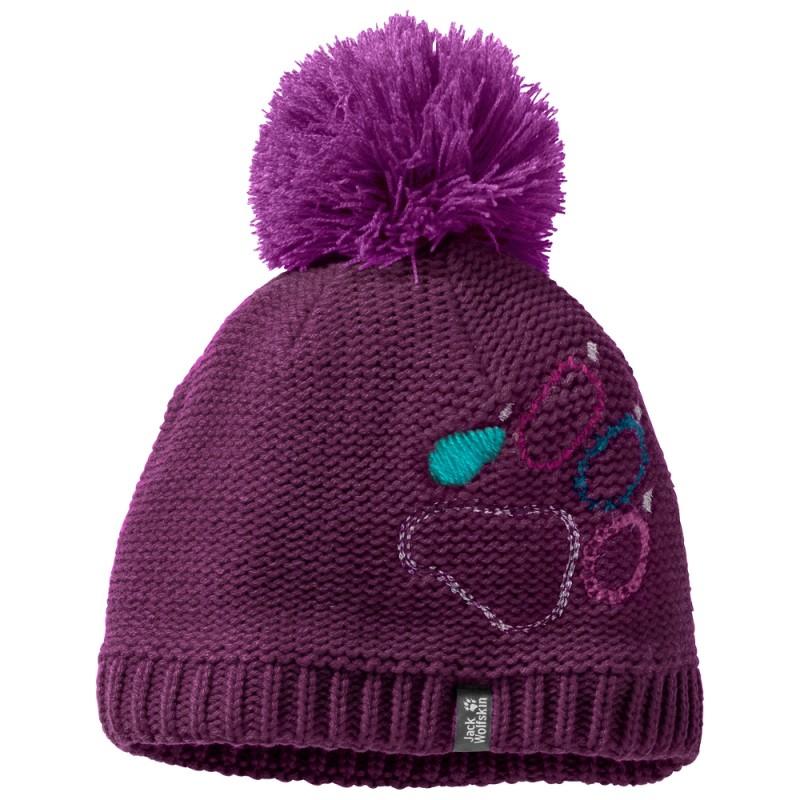 Купить Шапки и повязки, Шапка paw knit cap kids (1906591-2125), Jack Wolfskin, Сереневый, Осень-Зима 2018-2019