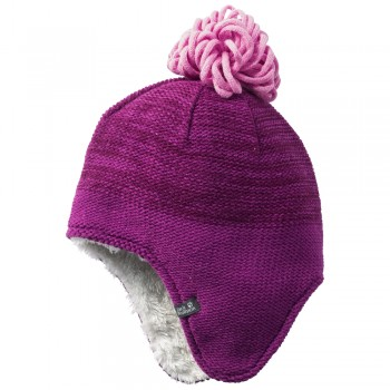 Фото Шапка SNOWFLAKE CAP KIDS (1907451-2125), Цвет - сереневый, Шапки и повязки