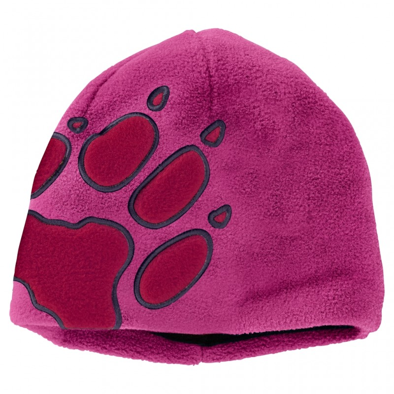 Купить Шапки и повязки, Шапка front paw hat kids (19424-2047), Jack Wolfskin, Фуксия, Осень, Зима, Осень-Зима 2017-2018