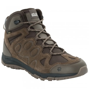 Фото Треккинговые ботинки ROCKSAND TEXAPORE MID M (4022311-5690), Цвет - темно-коричневый, Треккинговые ботинки