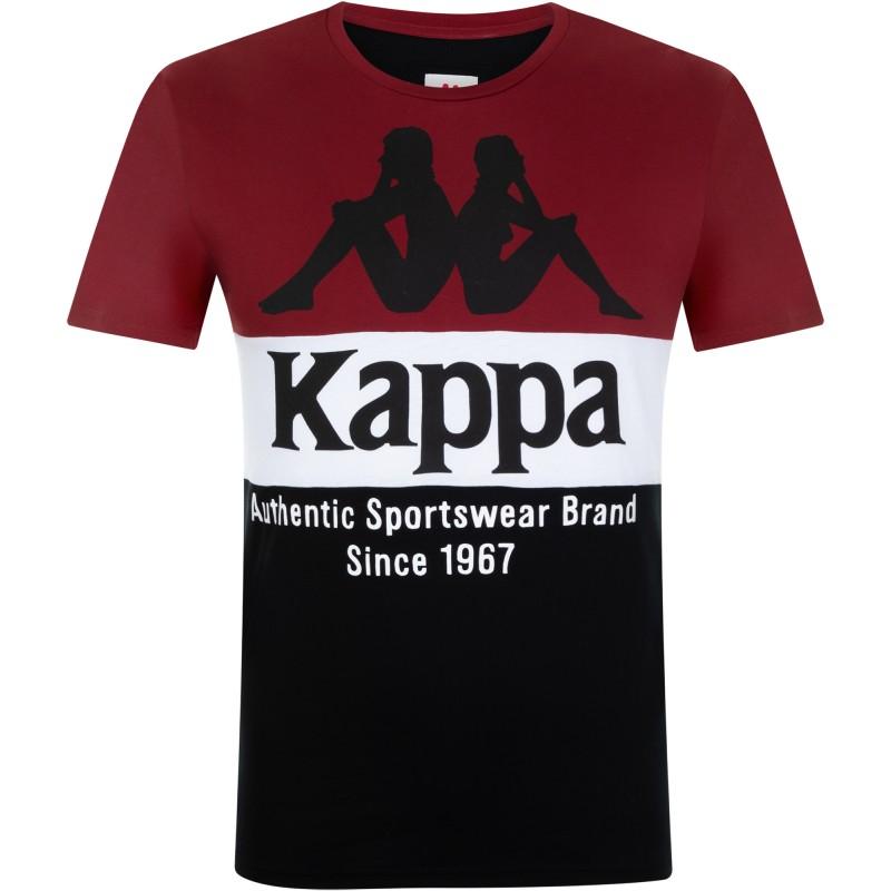 Купить Футболки, Футболка men's t-shirt (100759-BH), Kappa, Черный, Красный, Мультисезон, Осень-Зима 2019-2020