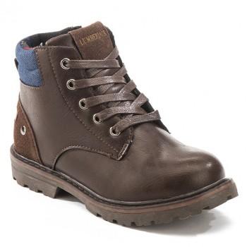 Фото Ботинки Ankle Boot With Lace (SB36801-002-CE002), Цвет - темно-коричневый, Городские ботинки