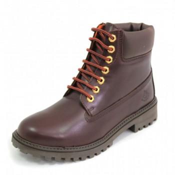 Фото Ботинки Ankle Boot (SM00101-014-CE002), Цвет - темно-коричневый, Городские ботинки