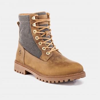 Фото Ботинки высокие KOMBAT BOOT (SM00101-020-M0001), Цвет - желтый, темно-коричневый, Городские ботинки