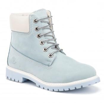 Фото Ботинки ANKLE BOOT FUR LINING (SW00101-017-M0576), Цвет - голубой, белый, Городские ботинки