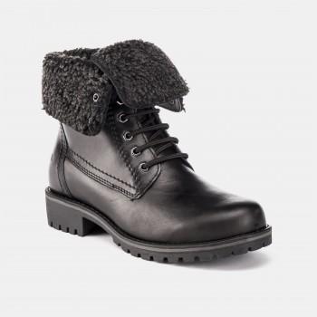 Фото Ботинки ANKLE BOOT FUR LINING (SW52701-002-CB001), Цвет - черный, Городские ботинки