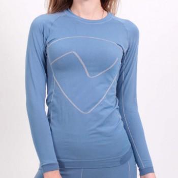 Фото Фуфайка PRO SKIN Sina Langarm T-shirt (0803448), Цвет - голубой, темно-синий, Фуфайки