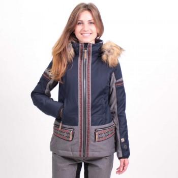 Фото Куртка г/л Irmi Schijacke (0805314), Цвет - темно-синий, серый, Горнолыжные