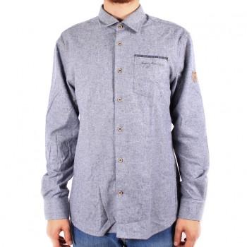 Фото Рубашка с длинным рукавом Johan Flanell-Langarmhemd (0869514), Цвет - темно-синий, Рубашки