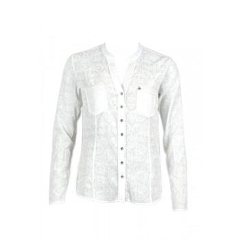 Фото Рубашка с длинным рукавом Lilo Langarmbluse (0885416), Цвет - белый, принт, Длинный рукав