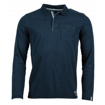 Фото Футболка с длинным рукавом Cato Langarm Polo Shirt (0912614), Цвет - темно-синий, Футболки с длинным рукавом