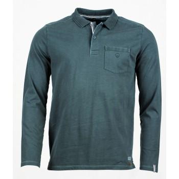 Фото Футболка с длинным рукавом Cato Langarm Polo Shirt (0912623), Цвет - темно-серый, Футболки с длинным рукавом