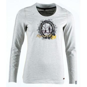 Фото Футболка с длинным рукавом Izabela Langarm T-Shirt (0915734), Цвет - серый, Футболки с длинным рукавом