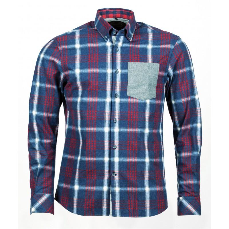 9771a30a845 Рубашка с длинным рукавом Igor Flanellkaro-Langarmhemd 093393
