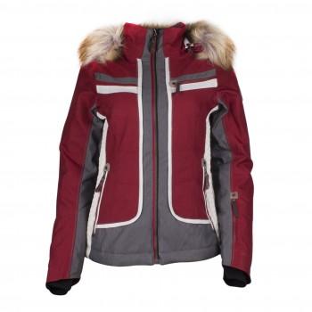 Фото Куртка горнолыжная Hannah Schijacke (096632), Цвет - бордовый, серый, белый, Горнолыжные и сноубордные