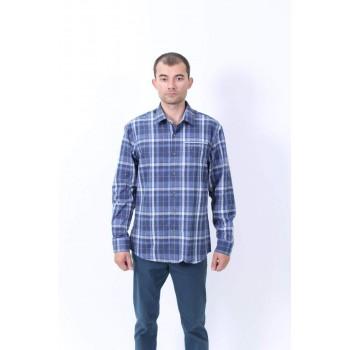 Фото Рубашка Emil Flanell-Langarmhemd (0807047), Цвет - голубой, Длинный рукав