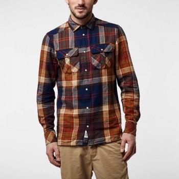 Фото Рубашка с длинным рукавом Lm Violator Flannel Shirt (651306-7950), Цвет - синий, коричневый, Длинный рукав