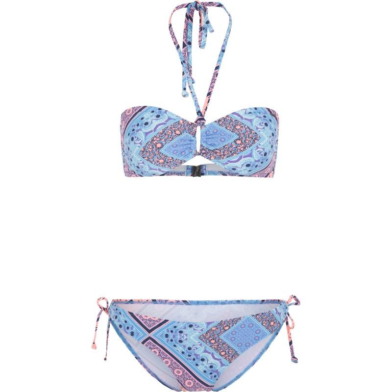 Купить Бикини, Купальник pw pulca cruz print bikini (9A8602-5950), Oneill, Голубой, Принт, Весна-Лето 2019