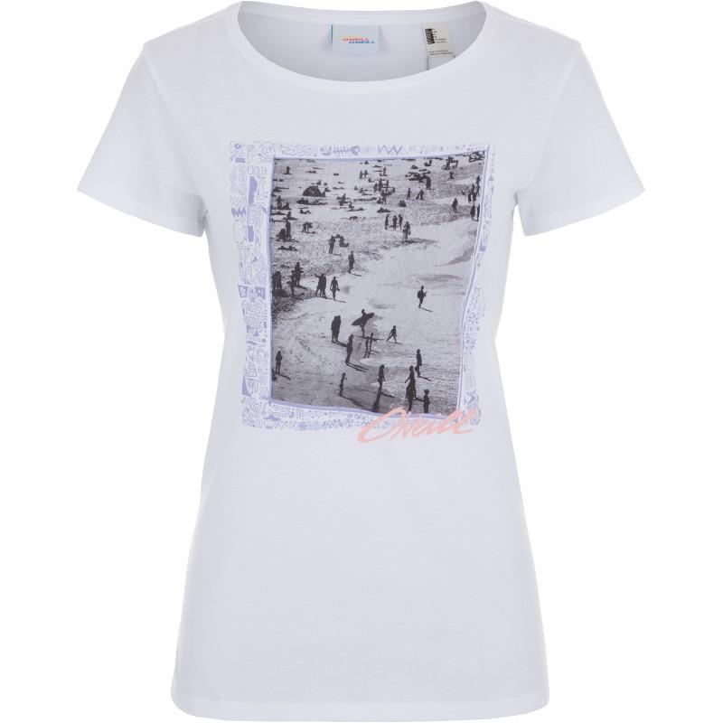 Купить Футболки, Футболка lw tora in new york t-shirt (9A8616-1010), Oneill, Белый, Весна-Лето 2019