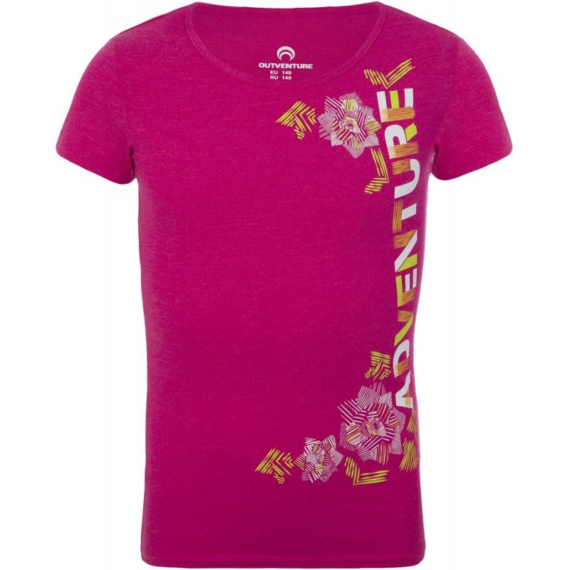 Купить Футболки, Футболка girl's t-shirt (100228-82), Outventure, Малиновый, Весна-Лето 2019