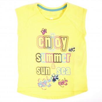 Фото Футболка Girl's T-shirt (S17AOUTSG09-Y0), Цвет - светло-желтый, Футболки