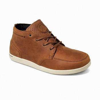 Фото Ботинки REEF SPINIKER MID NB BROWN (R3422BRO), Цвет - коричневый, Городские ботинки