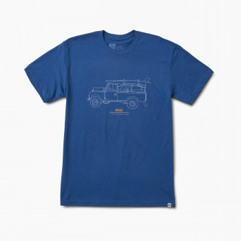 Фото Футболка REEF EXPEDITION TEE BLUE (RA3F8GBLU), Цвет - синий, Футболки