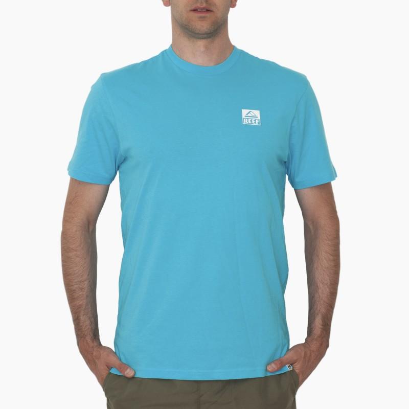 Купить Футболки, Футболка reef logo tee sma light blue (RA3FBHLIB), Голубой, Весна-Лето 2018