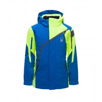 Фото Куртка горнолыжная BOY'S CHALLENGER (183014-499), Цвет - синий, желтый, черный, Горнолыжные и сноубордные
