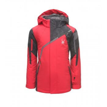 Фото Куртка горнолыжная BOY'S CHALLENGER (183014-600), Цвет - красный, черный, Горнолыжные и сноубордные
