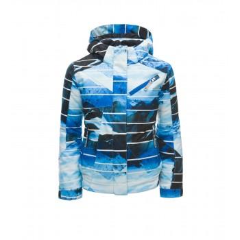 Фото Куртка горнолыжная GIRL'S LOLA (184014-431), Цвет - синий, принт, Горнолыжные и сноубордные