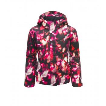 Фото Куртка горнолыжная GIRL'S LOLA (184014-651), Цвет - розовый, принт, черный, Горнолыжные и сноубордные