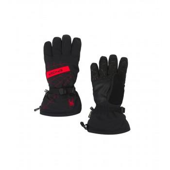 Фото Перчатки горнолыжные OVERWEB GTX (185008-016), Цвет - черный, красный, Горнолыжные перчатки