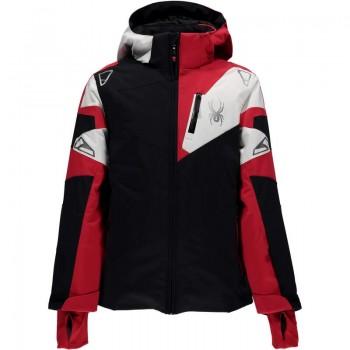 Фото Куртка горнолыжная BOY'S LEADER (235008-001), Цвет - черный, красный, белый, Горнолыжные