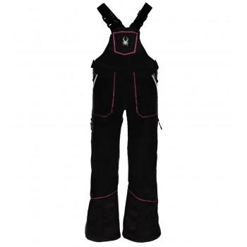 Фото Брюки горнолыжные Girl's Mimi Overall (239020-001), Цвет - черный, розовый, Горнолыжные и сноубордные