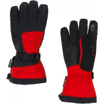 Фото Перчатки горнолыжные OVERWEB GTX (38197004-620), Цвет - красный, черный, Горнолыжные перчатки
