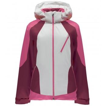 Фото Куртка горнолыжная Amp (554234-199), Цвет - белый, розовый, бордовый, Горнолыжные и сноубордные