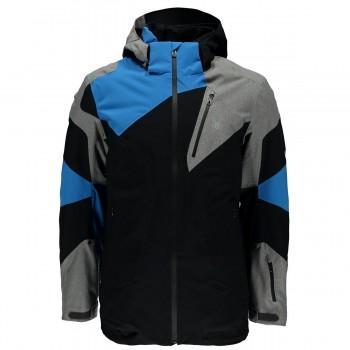 Фото Куртка горнолыжная Leader (783354-018), Цвет - черный, серый, синий, Горнолыжные и сноубордные