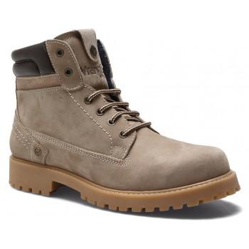 Фото Ботинки CREEK (WM182000-029), Цвет - серо-коричневый, Городские ботинки