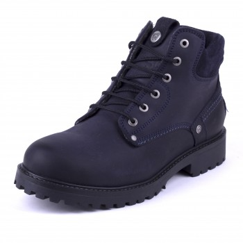 Фото Ботинки YUMA FUR S (WM182008-016), Цвет - темно-синий, Городские ботинки