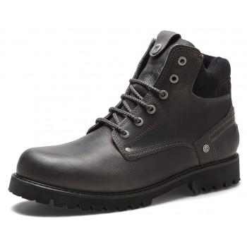 Фото Ботинки YUMA LEATHER LIGHT FUR S (WM182015-096), Цвет - темно-серый, Городские ботинки